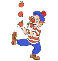 Circus Clown Juggling vector image