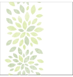 Fabric textured abstract leaves vertical seamless vector image vector image
