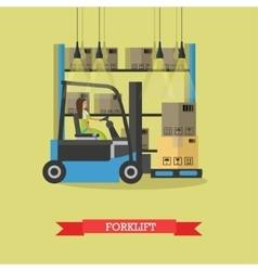 Logistic and delivery service concept banner vector image