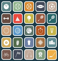 Sport flat icons on blue background vector image vector image
