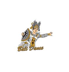 bali girl dancer vector image