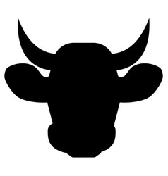cow head the black color icon vector image