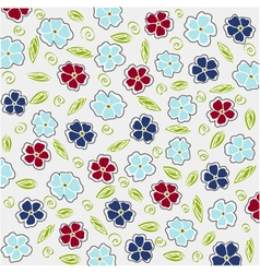 floral card and fabric texture vector image vector image