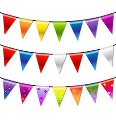 Rainbow Bunting Banner Garland vector image