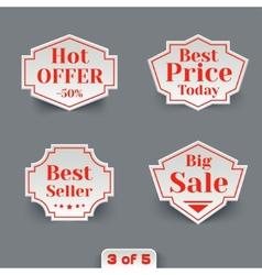 Set of Sale Paper Retro Labels vector image vector image