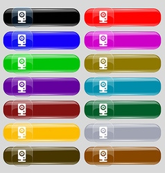 Web cam icon sign Big set of 16 colorful modern vector image