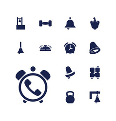13 bell icons vector