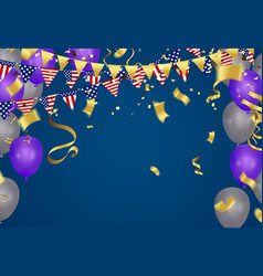 4th of july american independence day decorations vector