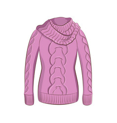 A realistic warm jumper or knitted sweater women vector