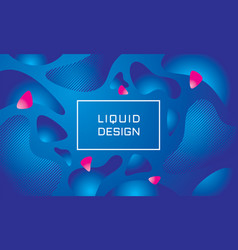 abstract liquid color background vector image