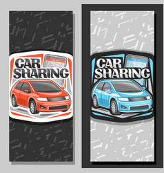 banners for car sharing vector image