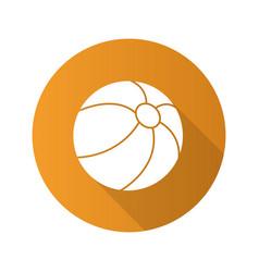 beach ball flat design long shadow glyph icon vector image