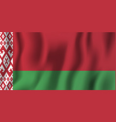 belarus realistic waving flag national country vector image