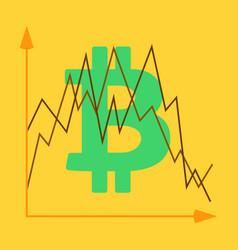 Bitcoin sign icon for internet money crypto vector