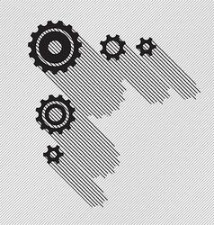 Black gears set vector image