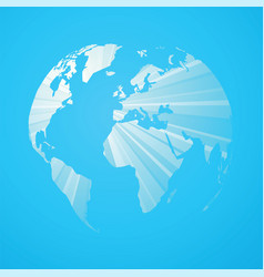 blue striped world map vector image