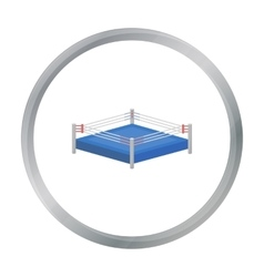 Boxing ring icon in cartoon style isolated on vector image