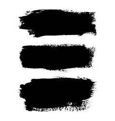 Brush strokes set isolated white background vector