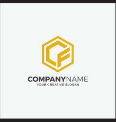 Business logo modern initial cf vector
