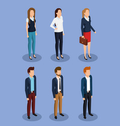 Business people isometric avatars vector