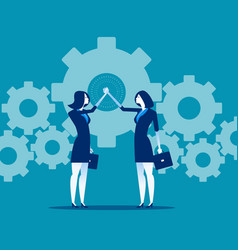 business teamwork and hand coordination concept vector image