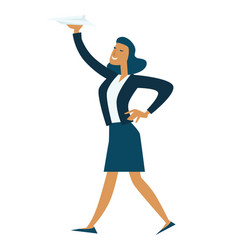 businesswoman and business idea woman holding vector image