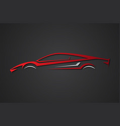 Car sport emblems vector