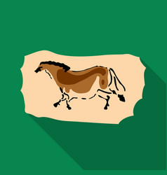 Cave painting icon in flate style isolated on vector