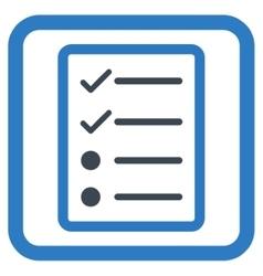 Checklist Page Flat Icon vector
