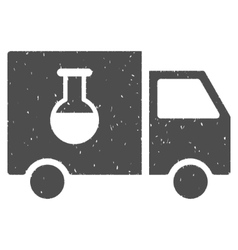 Chemical Delivery Truck Icon Rubber Stamp vector