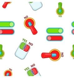 Choice pattern cartoon style vector image