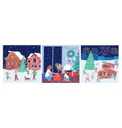christmas composition set vector image