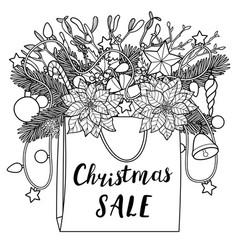 Christmas sale composition vector