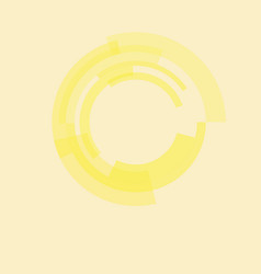 circle from yellow rectangular abstract technology vector image