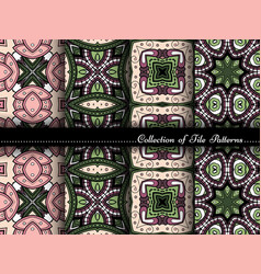 collection seamless vintage patterns vector image