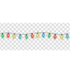 colorful electric garland christmas lights cartoon vector image