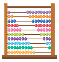 Colourful wooden abacus on white backgroud vector