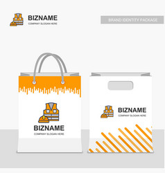 Company shopping bags design with labour logo vector