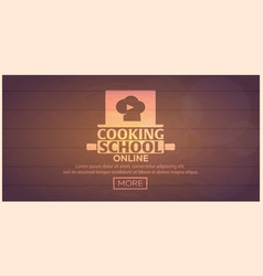 Cooking school courses online culinary class vector