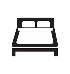 double bed icon simple black and white hotel sign vector image