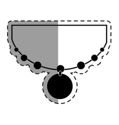 Elegant female necklace ison vector