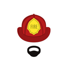 firefighter in professional outfit the man vector image