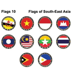 Flags of South-East Asia vector