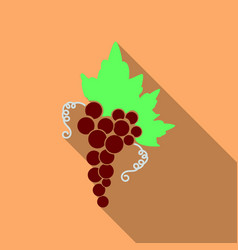 grape icon food fruits silhouette of icon with vector image