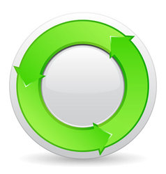 green button with arrows vector image