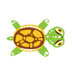 green turtle with out stretched flippers vector image
