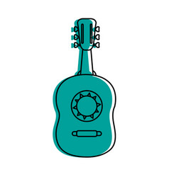 Guitarron acoustic guitar icon image vector