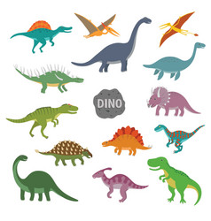 Happy cartoon dinosaur vector