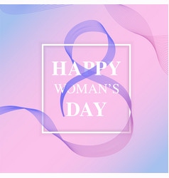 happy womens day design elements created using vector image