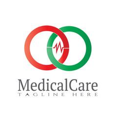 Health care logo design vector